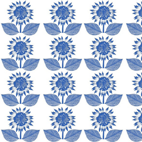 Flower Motif blue and white