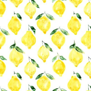 Sicilian lemons watercolor pattern