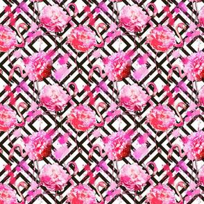 flamingo floral geometric small