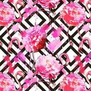 flamingo floral geometric medium