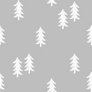 tree // minimal outdoors camping woodland nature forest basic nursery tree fabric grey