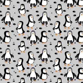 penguin hockey black and gray