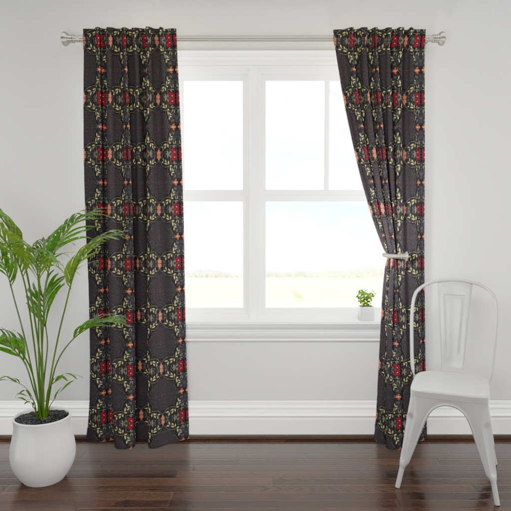 Plymouth Curtain Panel featuring Bolly black by maria_pezzano