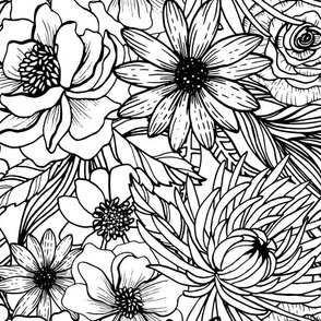 Floral Coloring Book by Angel Gerardo
