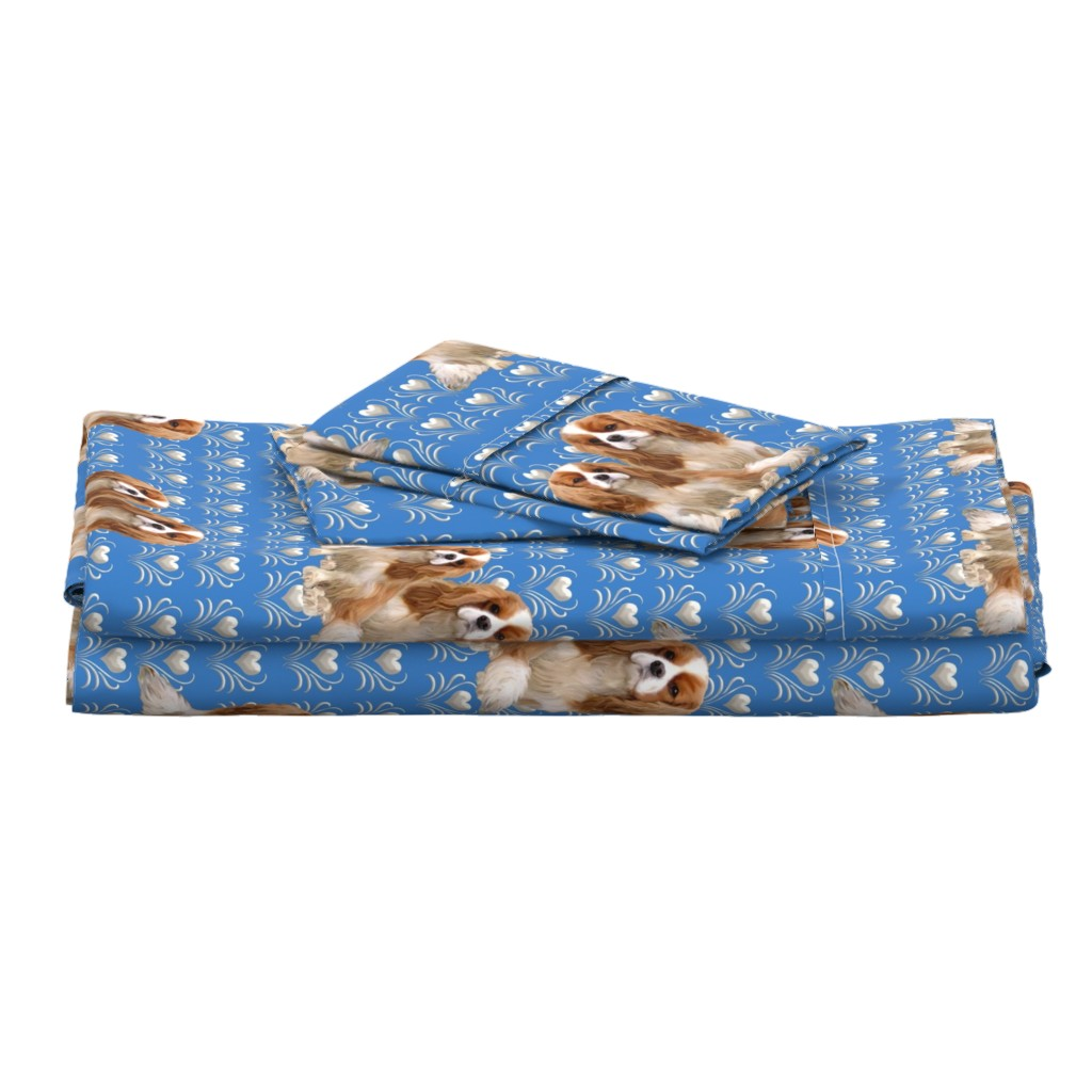 Langshan Full Bed Set featuring Cavalier King Charles Spaniel Fabric by dogdazedesigns
