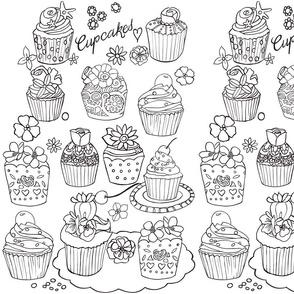 Cupcakes for Coloring  © DanielaGlassop