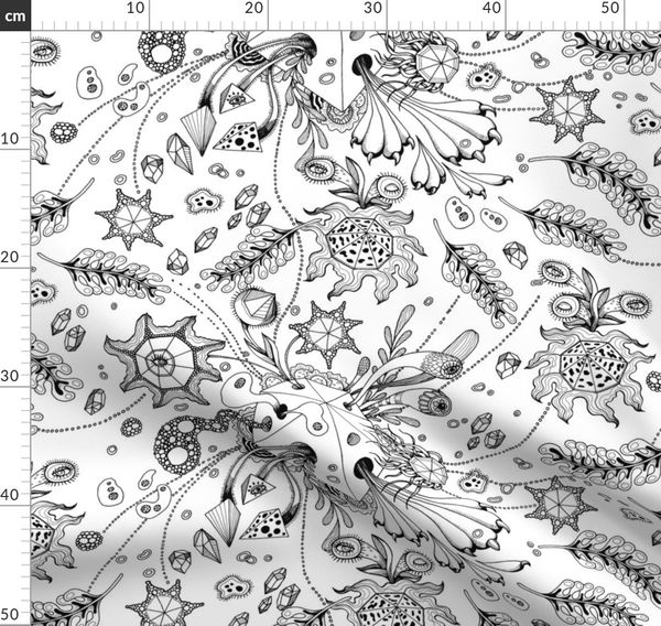 lake coloring page abstract surrealism pattern by nellik
