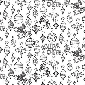 Coloring Book Christmas Ornaments