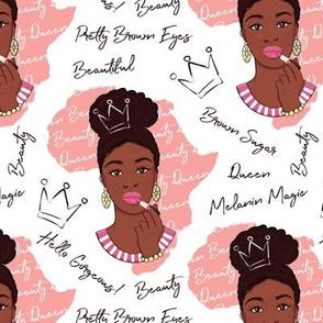 African American beauty queen