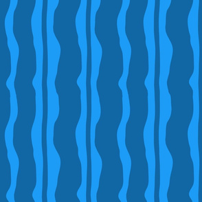 Dark Blue Wave Stripe