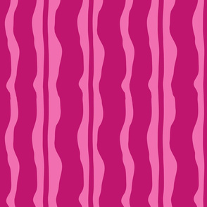 Burgundy over Pink Stripe
