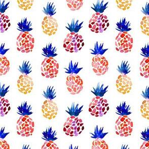 Fun pineapples, watercolor