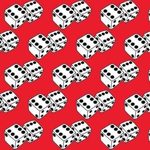 medium dice-on-red
