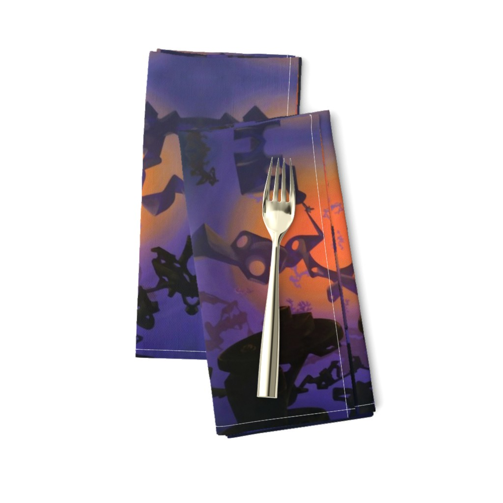 Amarela Dinner Napkins featuring Components in space by revolutionaryvision