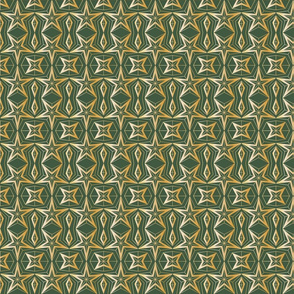Graphic Stars_Green and gold