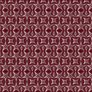 Graphic Stars_winered and silver