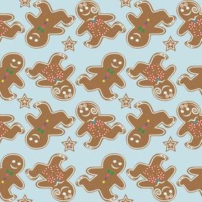 Ditzy Ice Skating Gingerbread cookies