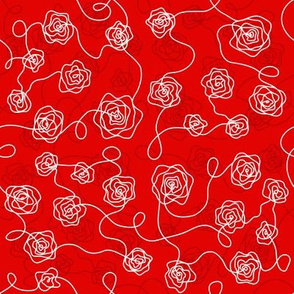 Line roses Red