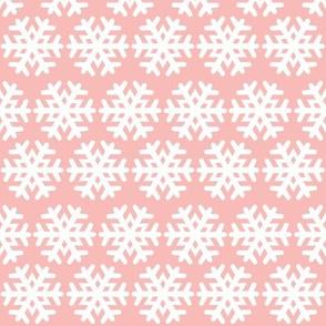 Blush Pink Snowflakes
