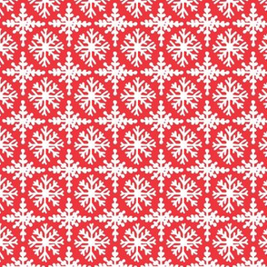 Snowflakes in red
