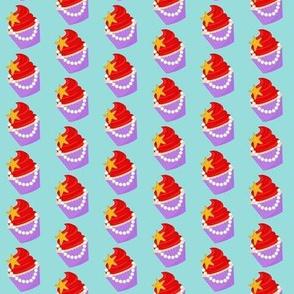 Mermaid Cupcake - Small gold