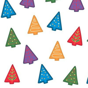 Christmas Tree Cookie Fabric by the Yard