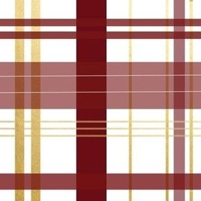 garnet and gold plaid maroon red and yellow plaid