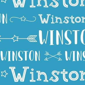 Boys Personalized Name Fabric // Stars and Arrows - Winston