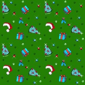 KiniArt Pets Small Print Christmas