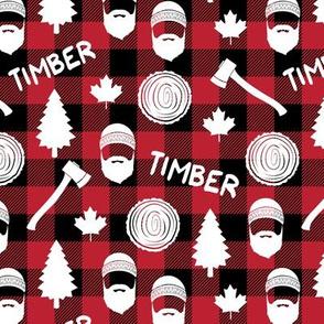 (small scale) lumberjack - timber - buffalo plaid
