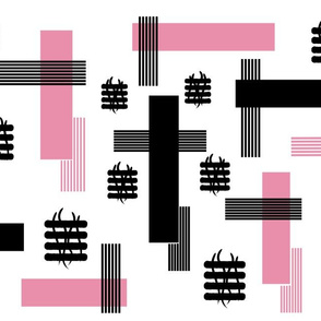 Pink  & Black Rectangles and Bars