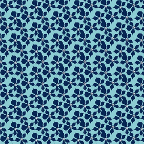Mint & Navy Ditsy Painted Floral