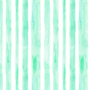 Emerald watercolor stripes