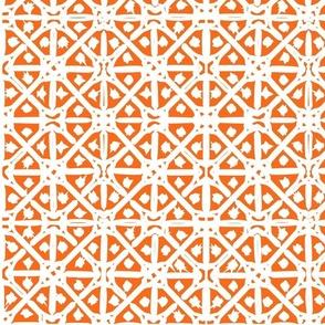 Orange mediterranean tiles outdoor pattern middle east