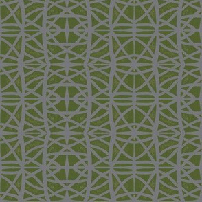 curvy weave green on gray