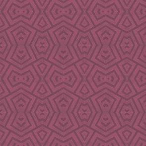 block print triangles on raspberry