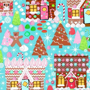 Holiday Gingerbread House // Christmas // Gingerbread house //  Xmas //  Holiday //  Gingerbread Man  //Cookies  // Winter //  Candy