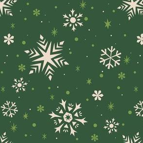 Snowflakes & Flurries (GREEN)