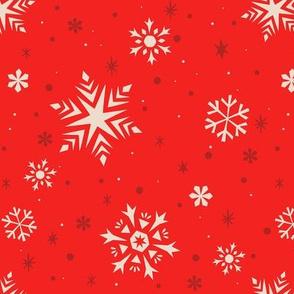 Snowflakes & Flurries (RED)
