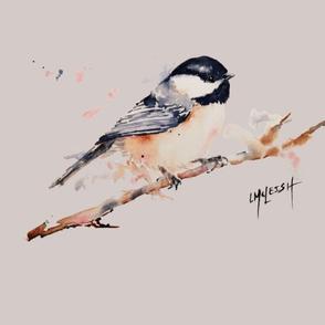 Little Bird Pillow 20x20 Grey