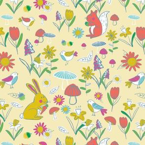 Woodland Frolic - Yellow