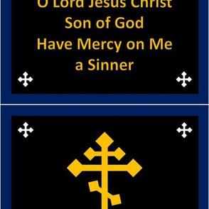 Jesus Prayer Zipper Pocket in Black