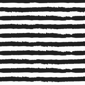 Black and White Chalk Brushstroke Stripes / Painted Stripes Chalkboard Stripes