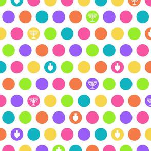 Rainbow Hanukkah Dots
