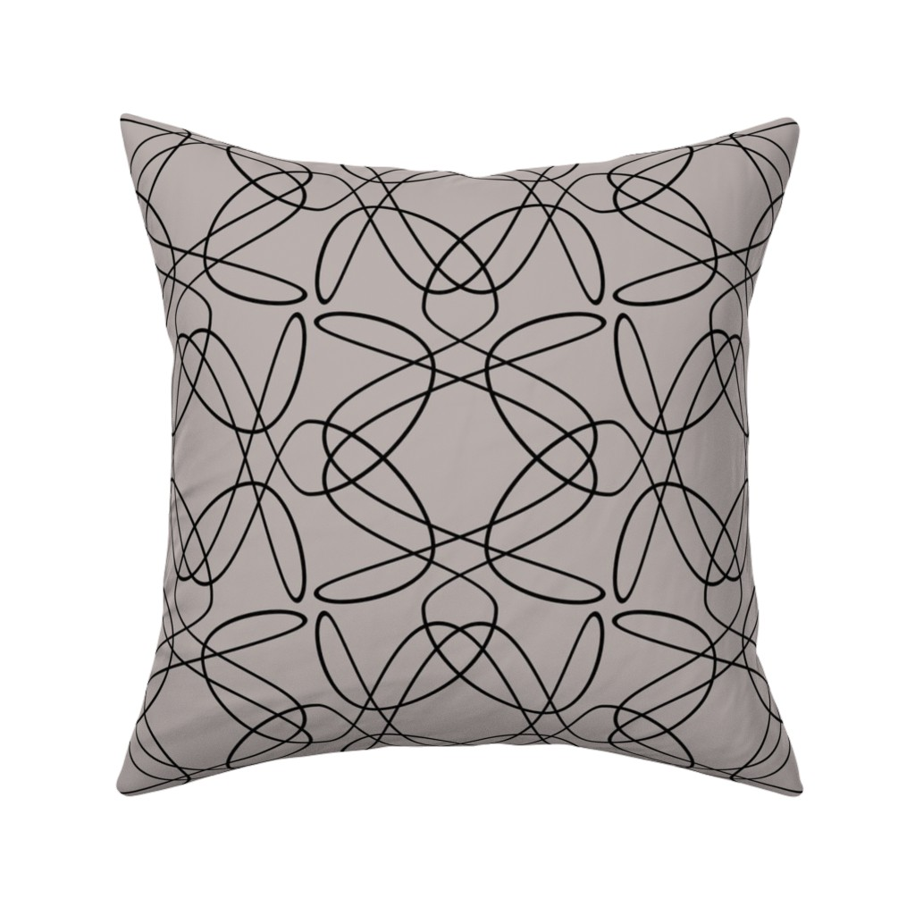 Catalan Throw Pillow featuring Tangly Lines by zuzana_licko