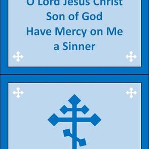 Jesus Prayer Zipper Pocket in Blue