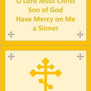 Jesus Prayer Zipper Pocket in Gold