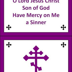 Jesus Prayer Zipper Pocket in Purple