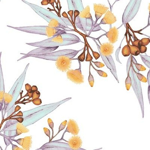 Gumnuts, Golden Copper & Silver Lilac // large