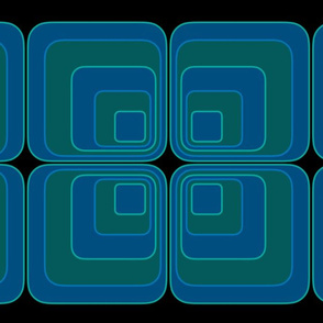 Panton Squares Blue Green